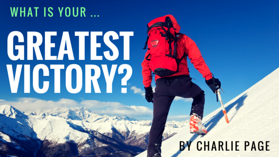 What is your greatest victory by Charlie Page
