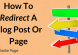 How To Redirect A Blog Post Or Page
