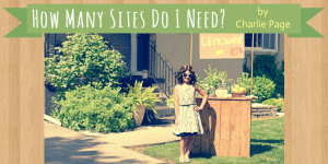 How Many Sites Do I Need by Charlie Page