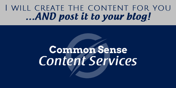 Common Sense Content Services by Charlie Page
