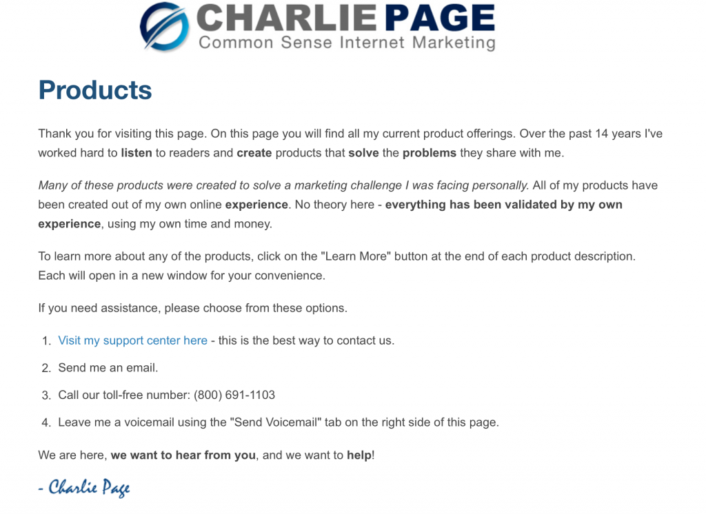 Offer Wall Part 1 by Charlie Page