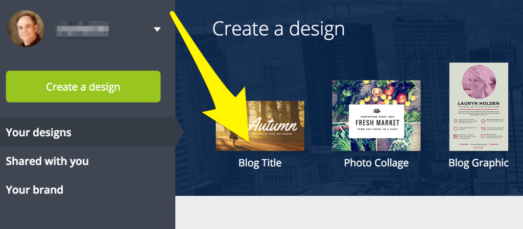 Canva blog title choice